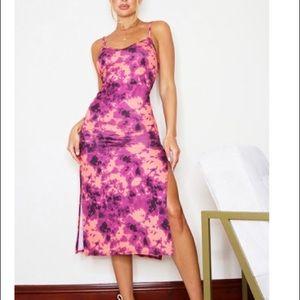 Midi tie dye dress